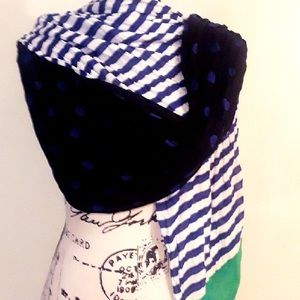 TALBOTS WOMEN'S STRIPED & POLKA DOT SCARF